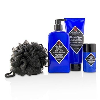 Clean & Cool Body Basics Set: All Over Wash 295ml + Pit Boss Deodorant 78g + Cool Moisture Body Lotion 473ml + Netted Sponge  4pcs