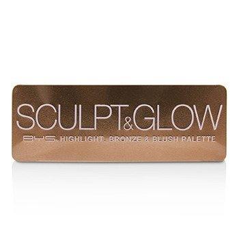 Sculpt & Glow Palette (Highlight, Bronze & Blush)  18g/0.6oz