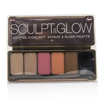 Sculpt & Glow Palette (Highlight, Bronze & Blush)  18g/0.6oz
