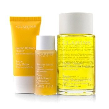 At-Home Pampering Body Kit: 1x Tonic Body Treatment Oil, 1x Bath & Shower Concentrate, 1x Tonic Body Balm  3pcs