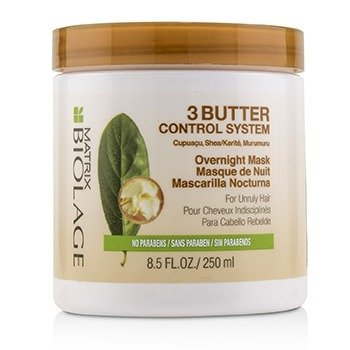 Biolage 3 Butter Control System Overnight Mask (For Unruly Hair)  250ml/8.5oz