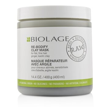 Biolage R.A.W. Re-Bodify Clay Mask (For Flat, Fine Hair)  400ml/14.4oz