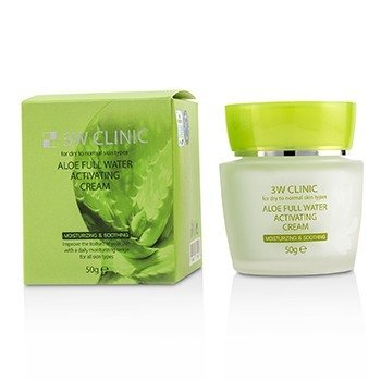 Aloe Full Water Activating Cream - For Dry to Normal Skin Types  50g/1.7oz