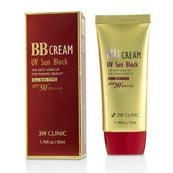 3W Clinic UV Sun Block BB Cream SPF50+ PA+++ 50ml/1 76oz