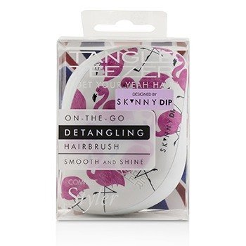 Tangle Teezer Compact Styler On-The-Go Detangling Hair Brush - # Skinny Dip Flamingo Print  1pc