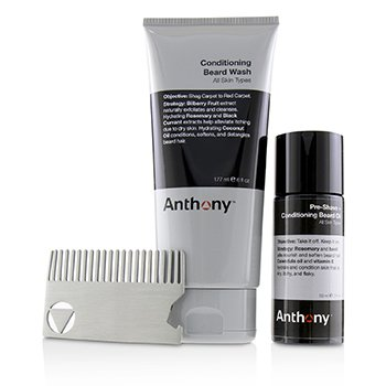 Beard Basics Kit: 1x Conditioning Beard Wash 177ml, 1x Pre-Shave + Conditioning Beard Oil 59ml, 1x Beard Comb  3pcs