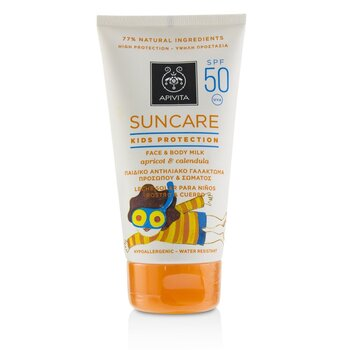 Suncare Kids Protection Face & Body Milk SPF 50 With Apricot & Calendula  150ml/5oz