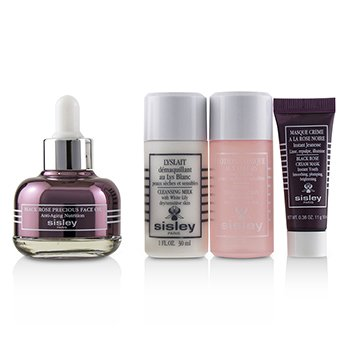 Black Rose Precious Face Oil Discovery Program: Face Oil 25ml + Lyslait 30ml + Floral Toning Lotion 30ml + Cream Mask 10ml  4pcs