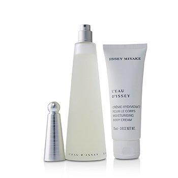 L'Eau D'Issey Coffret : Eau De Toilette Spray 100ml/3.3oz + Moisturising Body Cream 75ml/2.6oz  2pcs