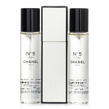 Chanel No.5 L'Eau Eau De Toilette Purse Spray And 2 Refills  3x20ml/0.7oz