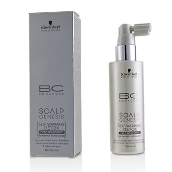 BC Scalp Genesis Self-Warming Detox Prep-Treatment (For Normal to Oily Scalps)  100ml/3.4oz