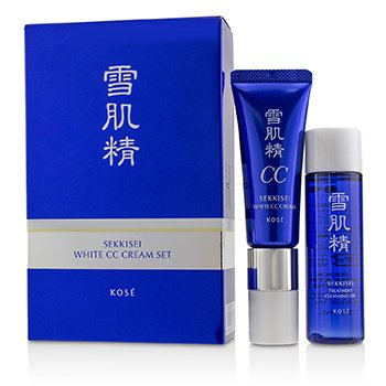 Sekkisei White CC Cream Set: Sekkisei White CC Cream SPF50+ PA++++ - # 01 Light Ochre 26ml/1oz + Sekkisei Treatment Cleansing Oil 35ml/1.1oz 2pcs