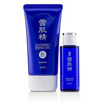 Sekkisei Sun Protect Essence Gel Kit: Sekkisei Sun Protect Essence Gel SPF50+ PA++++ 81ml/2.8oz + Medicated Sekkisei 24ml/0.81oz 2pcs