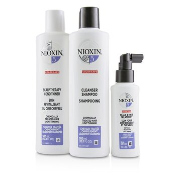 3D Care System Kit 5 - For Chemically Treated Hair, Light Thinning  3pcs