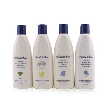 Family Fun Pack: Extra Gentle Shampoo + Super Soft Lotion + Smoothing Body Wash + Bouncing Baby Bubbles  4pcs