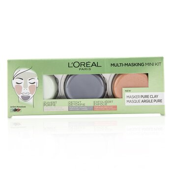 Multi-Masking Mini Kit:  Exfoliate & Refine Pores Clay Mask, Detoxifies & Clarifies Clay Mask & Purify & Mattify Clay Mask  3pcs