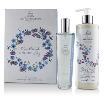 Zestaw Blue Orchid & Water Lily Coffret: Eau De Toilette Spray 100ml/3.3oz + Moisturising Hand & Body Lotion 350ml/11.8oz  2pcs
