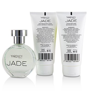 Jade Coffret: Eau De Toilette Spray 50ml/1.7oz + Luxury Body Wash 75ml/2.5oz + Moisturising Body Lotion 75ml/2.5oz  3pcs