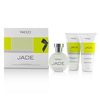 Jade Coffret: Eau De Toilette Spray 50ml/1.7oz + Luxury Body Wash 75ml/2.5oz + Moisturising Body Lotion 75ml/2.5oz  3pcs