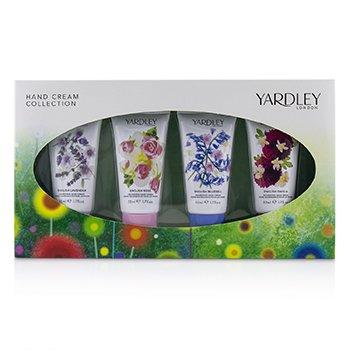 Hand Cream Collection: English Lavender + English Rose + English Dahlia + English Blubell  4x50ml/1.7oz
