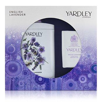English Lavender Corffet: Perfumed Talc 200g/7oz + Luxury Soap 100g/3.5oz  2pcs