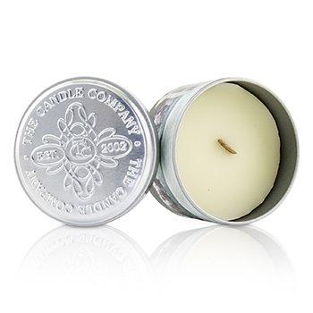 Świeca zapachowa Tin Can 100% Beeswax Candle with Wooden Wick - Ish-Ka  (8x5) cm
