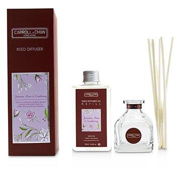 擴香瓶-茉莉, 玫瑰與小紅莓(含擴香棒) Reed Diffuser - Jasmine, Rose & Cranberry  100ml/3.38oz