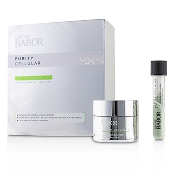 Doctor Babor Purity Cellular SOS De-Blemish Kit: De-Blemish Cream 50ml/1.7oz + De-Blemish Powder 5g/0.16oz  2pcs
