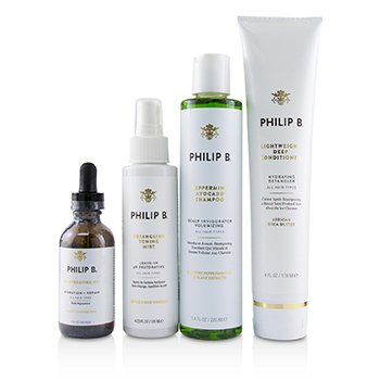 Four Step Hair & Scalp Treatment Set - # Classic formula (All Hair Types) 4pcs