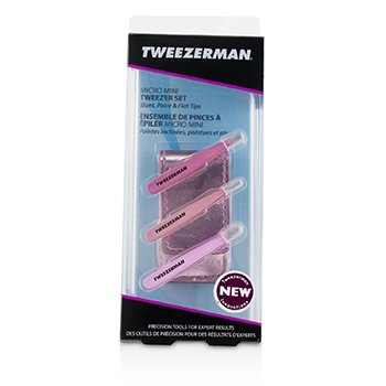 Zestaw Micro Mini Tweezer Set 3pcs+1case