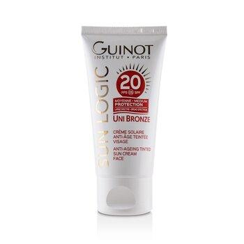 Krem do twarzy Sun Logic Uni Bronze Anti-Ageing Tinted Sun Cream For Face SPF 20  50ml/1.4oz
