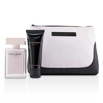 For Her Coffret: Eau De Parfum Spray 50ml/1.6oz + Her Body Lotion 75ml/2.5oz + Pouch  2pcs+1Pouch