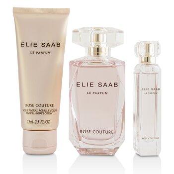 Zestaw Le Parfum Rose Couture Coffret: Eau De Toilette Spray 90ml/3oz + Floral Body Lotion 75ml/2.5oz + Eau De Toilette Spray 10ml/0.33oz  3pcs