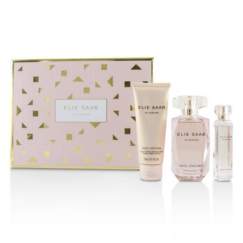 Le Parfum Rose Couture Coffret: Eau De Toilette Spray 90ml/3oz + Floral Body Lotion 75ml/2.5oz + Eau De Toilette Spray 10ml/0.33oz  3pcs