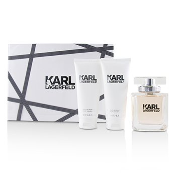 Zestaw Lagerfeld Coffret: Eau De Parfum Spray 85ml/2.8oz + Perfumed Body Lotion 100ml/3.3oz + Perfumed Shower Gel 100ml/3.3oz  3pcs