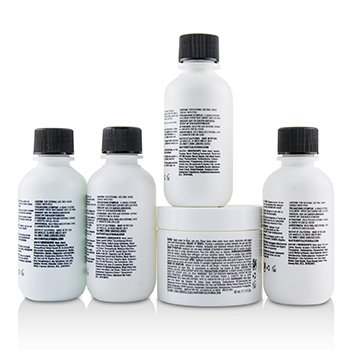Travel Starter Kit: Face Wash + Shave Formula + Moisturizer + Shave Balm + Shampoo + Bag  5pcs + 1 Bag