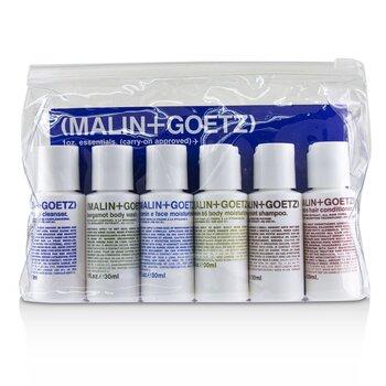1oz. Essentials Kit: Graprfuit Cleanser+Face Moisturizer+Body Wash+Body Moisturizer+Shampoo+Conditioner  6pcs
