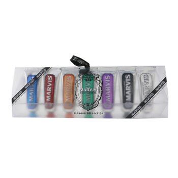 Marvis Toothpaste Set - Flavour Collection: 7x Mini Toothpaste 25ml (Whitening, Licorice, Jasmin, Ginger, Classic, Cinnamon. Aquatic)  7x25ml/1.3oz