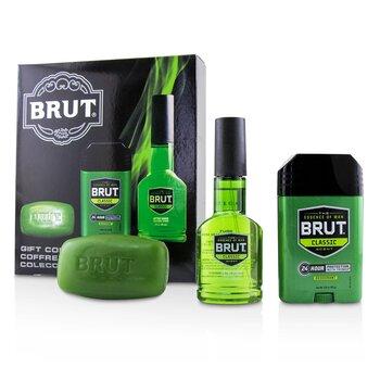 Brut Coffret: After Shave Cologne Spray 88ml/3oz + Solid Deodorant 70ml/2.25oz + Classic Bar Soap 99g/3oz  3pcs
