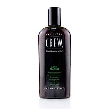 Men 3-IN-1 Tea Tree Shampoo, Conditioner and Body Wash  250ml/8.4oz