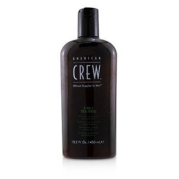 Men 3-IN-1 Tea Tree Shampoo, Conditioner and Body Wash  450ml/15.2oz