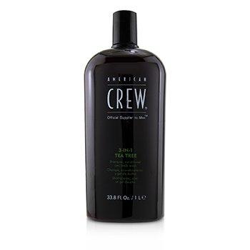 Men 3-IN-1 Tea Tree Shampoo, Conditioner and Body Wash  1000ml/33.8oz