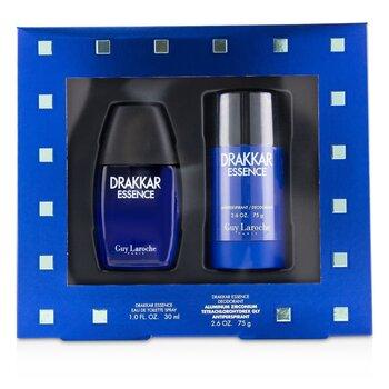 Drakkar Essence Coffret: Eau De Toilette Spray 30ml/1oz + Antiperspirant Deodorant Stick 75g/2.6oz  2pcs