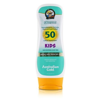 Lotion Sunscreen Broad Spectrum SPF 50 with Soothing Aloe Vera - For Kids  237ml/8oz