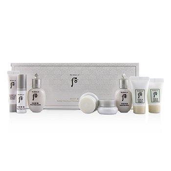 Gongjinhyang Seol Radiant Whitening 8 pcs Подарочный Набор: Балансирующее Средство + Эмульсия + Эссенция + Увлажняющий Крем + Корректор + Солнцезащитное Средство  8pcs