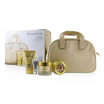 Ceramide Lift & Firm Youth Restoring Collection: Day Cream SPF 30+Ceramide Capsules+Cream Cleanser+Skin Renewal Booster+Bag  4pcs+1bag