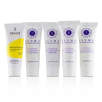 Iluma Trial Kit: 1x Cleanser, 1x Serum, 1x Body Lotion, 1x Creme, 1x Prevention+ Ultimate Moisturizer SPF 50  5pcs