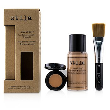 Stay All Day Foundation, Concealer & Brush Kit  2pcs