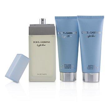 Light Blue Coffret:Eau De Toilette Spray 100ml/3.3oz + Body Cream 100ml/3.3oz + B & S Gel 100ml/3.3oz  3pcs