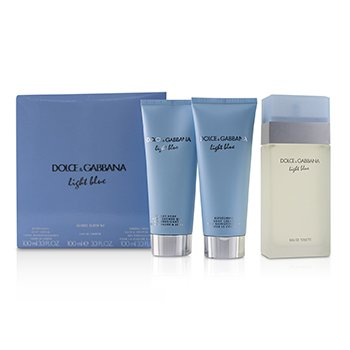 04a1f9b6053ec Light Blue Coffret Eau De Toilette Spray 100ml 3.3oz + Body Cream  100ml 3.3oz + B   S Gel 100ml 3.3oz